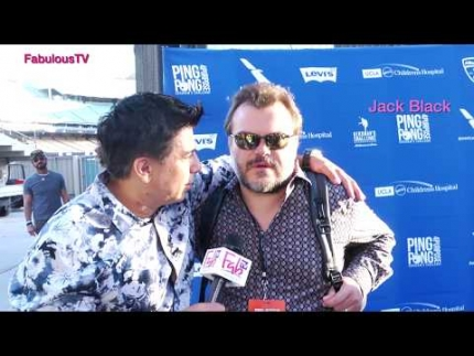 Jack Black at Kershaw's 'Ping Pong Challenge 4 Purpose' on FabulousTV