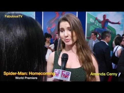 Amanda Cerny at Spider Man: Homecoming