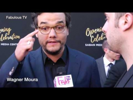 Wagner Moura at the 70th Anniversary at TV Academy red carpet on Fabulous TV