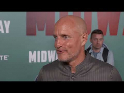 "Woody Harrelson talks about ""MIDWAY"" new film"
