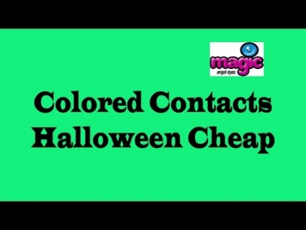 Colored Contacts Halloween Cheap