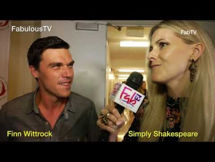 Finn Wittrock at 'Simply Shakespeare' event at UCLA on FabulousTV