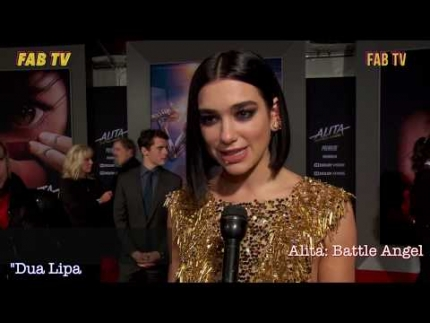 Dua Lipa shines at Alita: Battle Angel  premiere