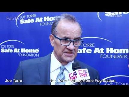 Joe Torre at his 'SAFE AT HOME' Foundation on FabTV