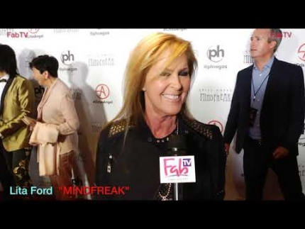 "Rock n' Roll star  Lita Ford at the ""MINDFREAK""  Grand Opening at Planet Hollywood!"