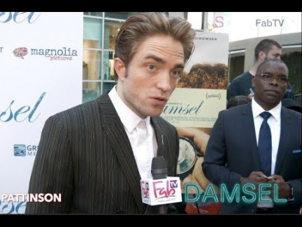 "Robert Pattinson at the ""DAMSEL"" premiere on FabTV"
