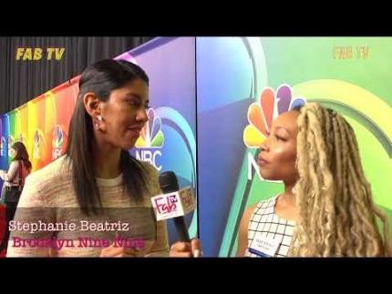 Stephanie Beatriz from  Brooklyn Nine-Nine  at the mid season NBC press tour