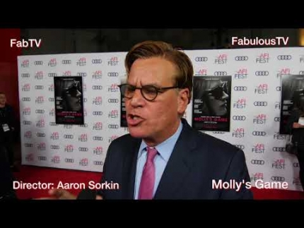Director: Aaron Sorkin at AFI Film Fest for 'Molly's Game' on FabulousTV