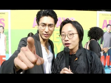 "Jimmy O. Yang & Chris at the premiere of ""Always Be My Maybe"","