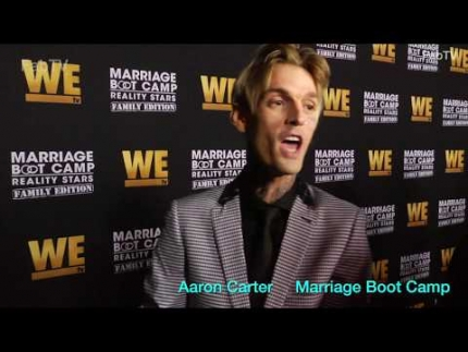 "Aaron Carter last night premiere of ""Marriage  Boot Camp"" 'Family Edition'"