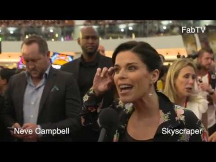 "Neve Campbell at ""Skyscraper"" red carpet fan event in Hong Kong"