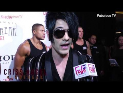 Criss Angel at his premiere of  Mindfreak Live!  at the Luxor Hotel with Fabulous TV