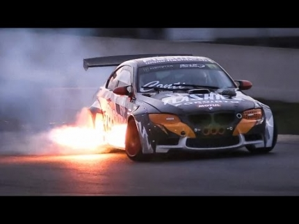 Liberty Walk BMW M3 E92 w/ ESS Supercharger & Sequential Gearbox - Drifting, Sound & Flames