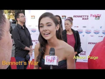 "Allison Paige at the ""Bennett's War""  red carpet"
