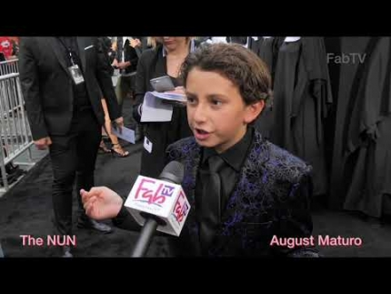 "August Maturo at ""THE NUN"" premiere"