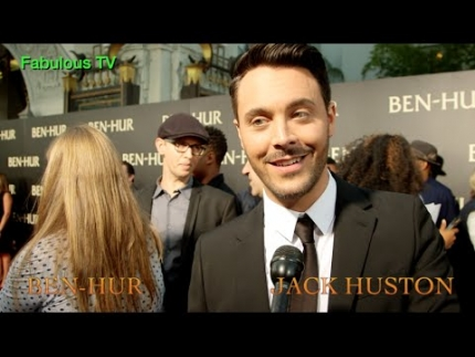 Jack Huston talks about BEN HUR at the premiere with Downey & Mark Burnett on FabulousTV