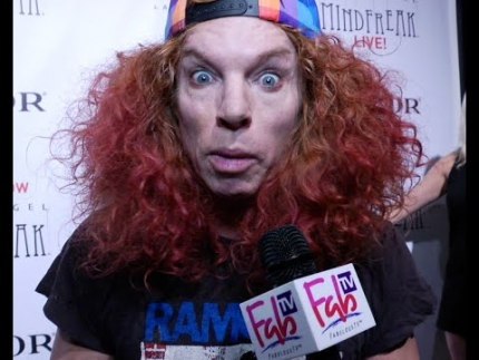 Carrot Top at Criss Angel\'s premiere of  Mindfreak Live!  at the Luxor Hotel with Fabulous TV