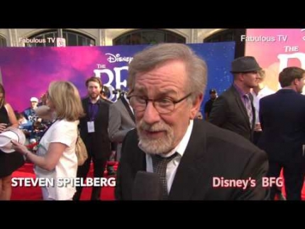 Bill Hader & Steven Spielberg at Disney\'s BFG premiere on Fabulous TV