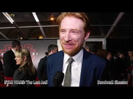Domhnall Gleeson at STAR WARS: The Last Jedi premiere