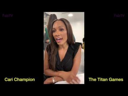 "Cari Champion ""The Titan Games""  talks sports with FabTV"