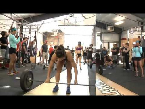 POWER CLEAN and Handstand push-up Camille LeBlanc Bazinet versus...