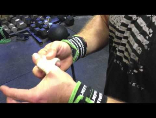 Rich Froning- Taping Thumbs for the Hook Grip