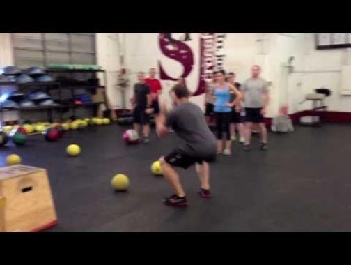Wall Ball Shots - Warm Up Game -
