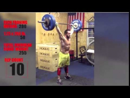 Rich Froning - Overhead Squat Challenge 255# x 15