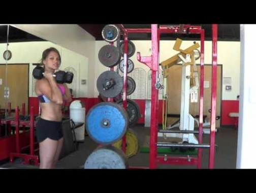 How to do a proper dumbbell/barbell PUSH PRESS!!...