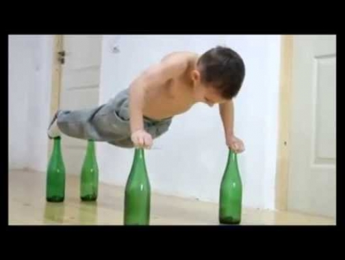 World\'s Strongest Kid Does Push-Ups on Bottles | UNSEEN HOME FOOTAGE...