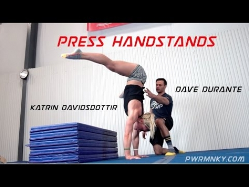 Dave Durante works Press Handstands with CrossFit Games Champion...