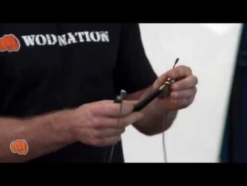 How to Size Your Jump Rope for Double Unders by WOD Nation's coach...