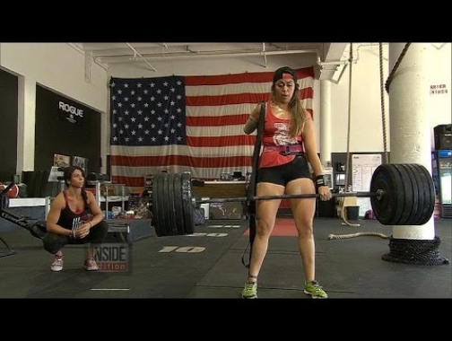 Female One-Armed Weightlifter Deadlifts Over 200 Pounds