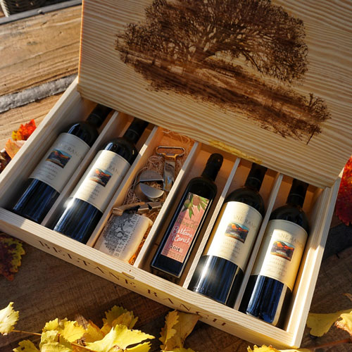 Six Bottle Fire-Branded Collector's Box
