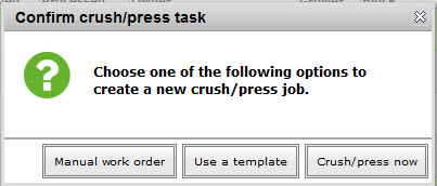 Crush press no tasks