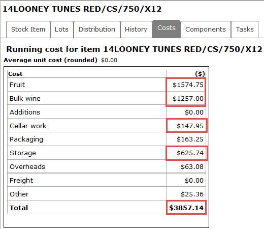 Adding costs - ad hoc2