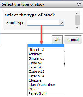 Inventory - stock type