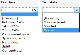 Inv Stk Rpt - tax class and state