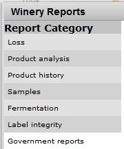 Reports - Govt Reports menu