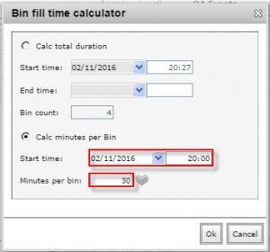 Calc minutes per bin