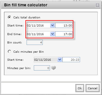Calc total duration