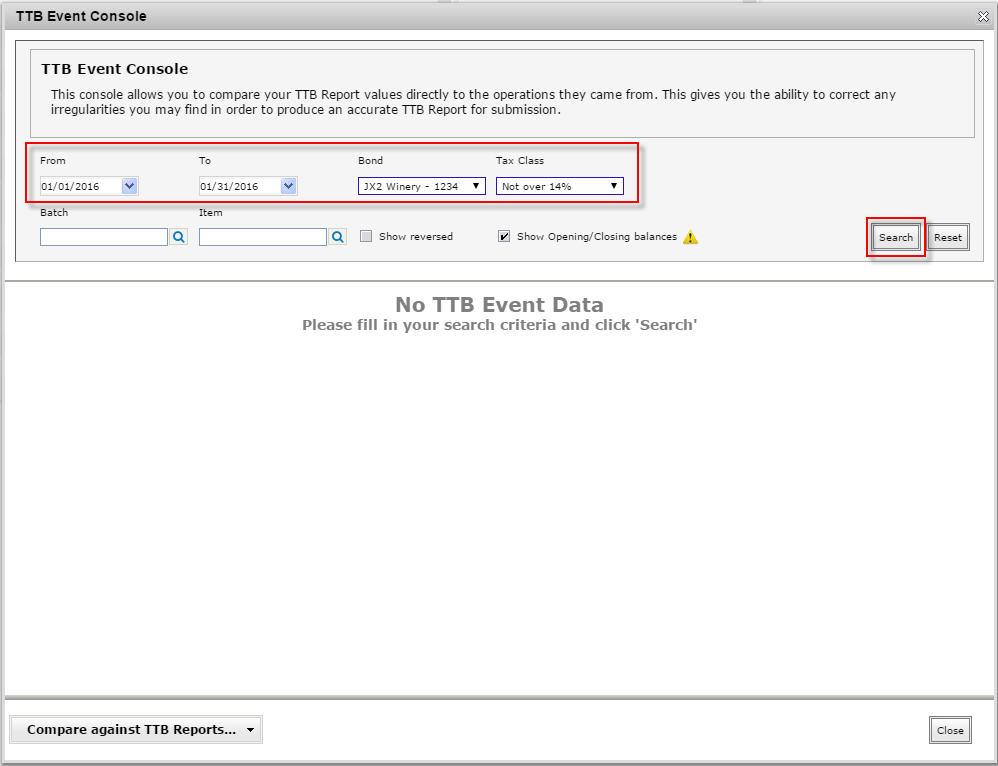 TTB Event Console