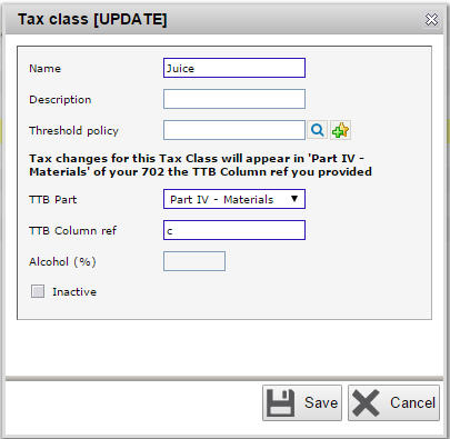 New juice tax class