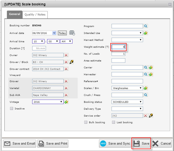 Edit a booking 2
