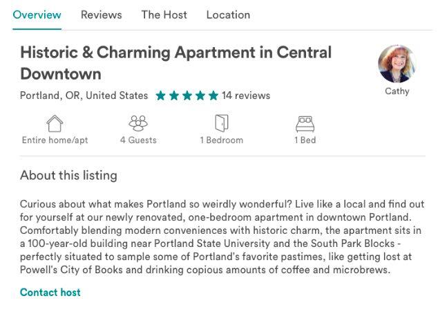 a listing description screenshot for a listing in portland - real estate marketing help