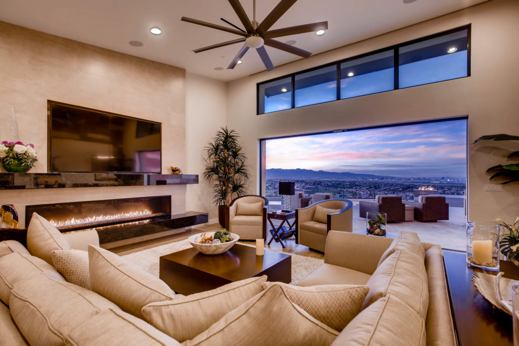real estate image of living room