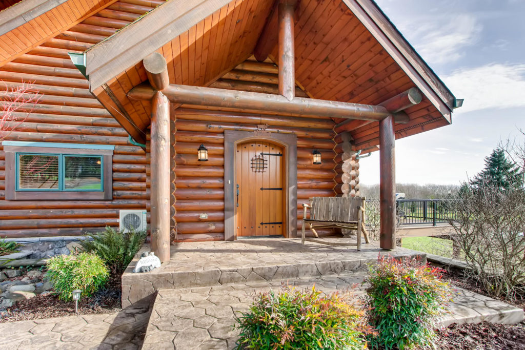 top listing of the week image for virtuance - image of exterior of log cabin