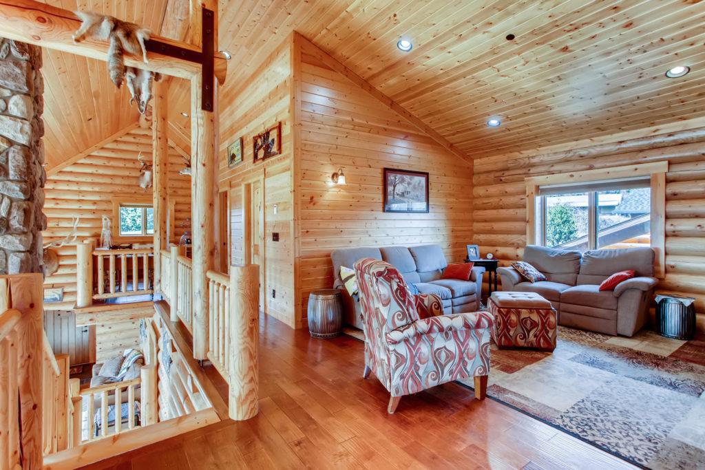 top real estate listing image - log cabin - hallway
