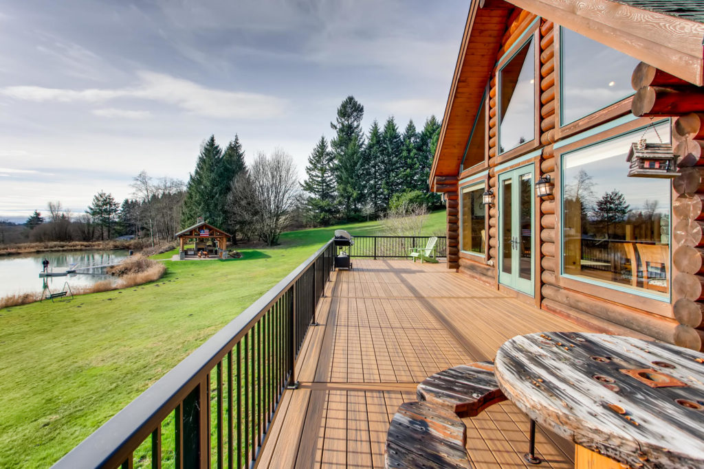exterior image of view from log cabin - top real estate images - virtuance