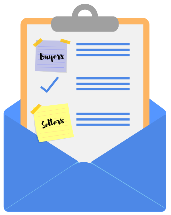 Clip art of notepad in envelope - email marketing blog - virtuance
